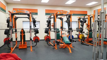 weight machines picture in the strength training building. not in use.