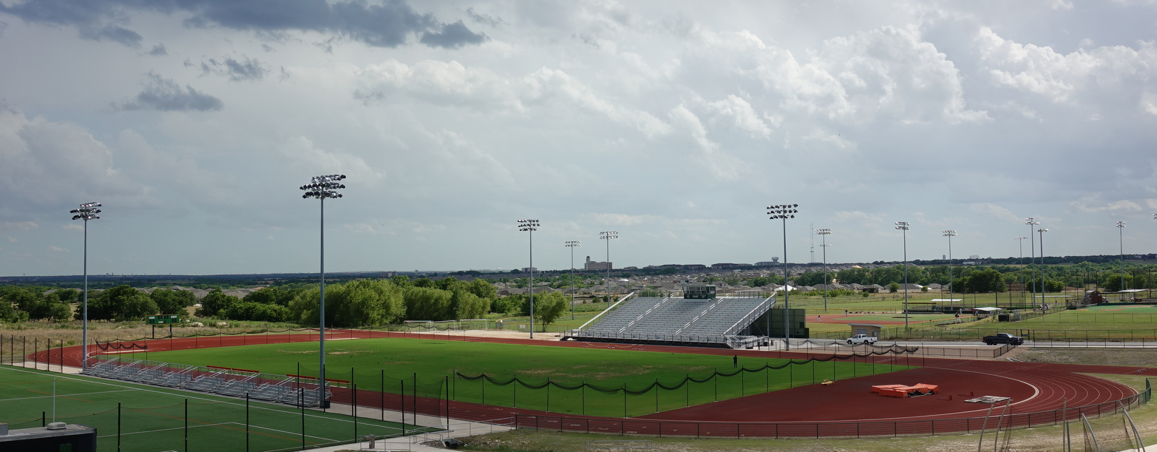 photo of soccer field and running track