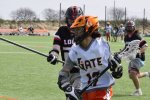 lacrosse player with stick